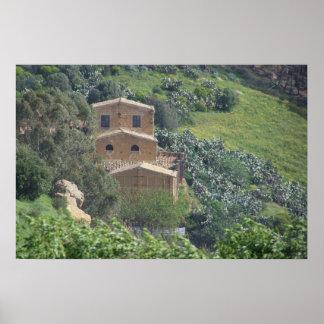 Caltagironeの近く、シシリー。 イタリア ポスター