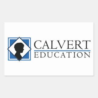 "Calvertの教育のステッカー(4.5"" x2.7"")は4の置きました 長方形シール"