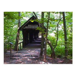 Cambronの屋根付橋、マディソン郡、アラバマ ポストカード