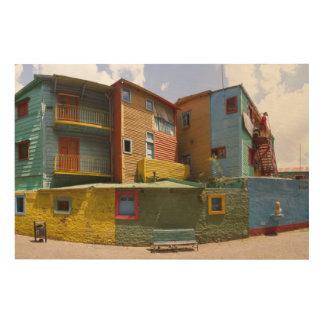 CaminitoのLa Boca、ブエノスアイレス ウッドウォールアート