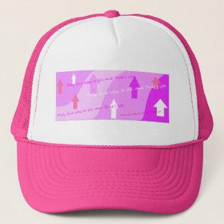 Camoflageの曲線のピンクの一見! キャップ
