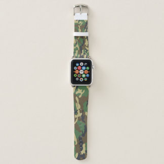 Camouflage Green And Brown Pattern Military Apple Watchバンド