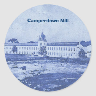 Camperdownの青Stcker ラウンドシール