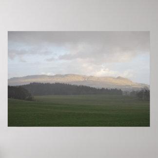 Campsieの丘-スコットランド ポスター