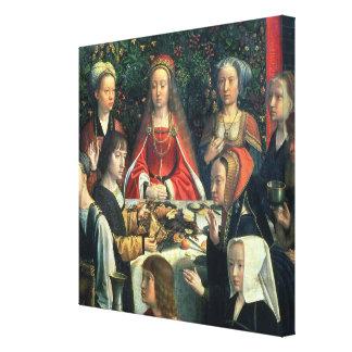 Canaの花嫁およびsurrの詳細の結婚 キャンバスプリント