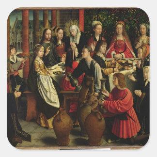 Cana、c.1500-03の結婚の饗宴 スクエアシール