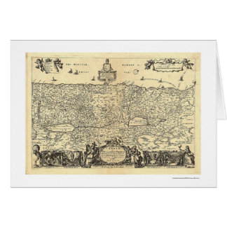 Canaanの地図Moxon 1680年著約束の土地 カード