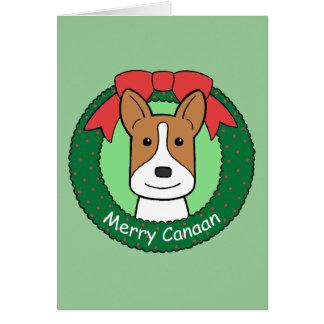Canaan犬のクリスマス グリーティングカード