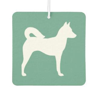 Canaan犬のシルエット カーエアーフレッシュナー