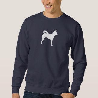 Canaan犬のシルエット スウェットシャツ