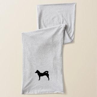 Canaan犬のシルエット スカーフ