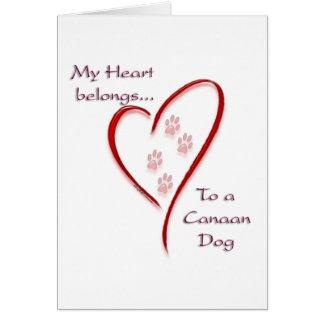 Canaan犬のハートは属します グリーティングカード