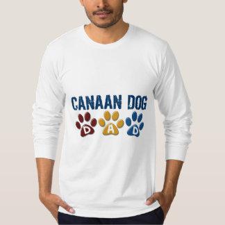 CANAAN犬のパパの足のプリント1 Tシャツ