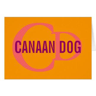 Canaan犬の品種モノグラム カード