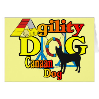 canaan犬の敏捷のワイシャツのギフト グリーティングカード