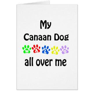 Canaan犬の歩行のデザイン カード