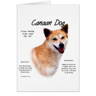 Canaan犬の歴史のデザイン カード