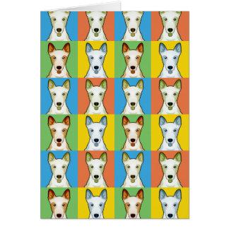 Canaan犬の漫画の破裂音芸術 グリーティングカード
