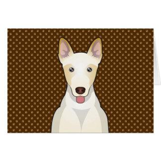 Canaan犬の漫画の足 グリーティングカード
