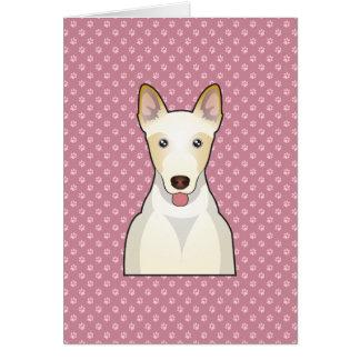 Canaan犬の漫画 グリーティングカード