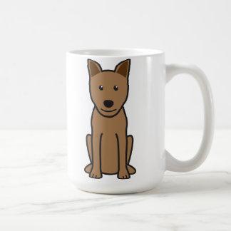 Canaan犬の漫画 コーヒーマグカップ