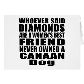 CANAAN犬犬の親友のデザイン カード