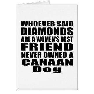 CANAAN犬犬の親友のデザイン グリーティングカード