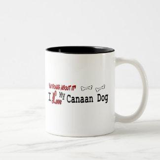 Canaan犬(I愛)のマグ ツートーンマグカップ