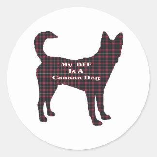 Canaan犬BFFのギフト ラウンドシール