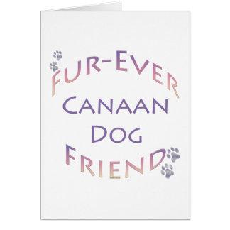 Canaan犬Furever グリーティングカード