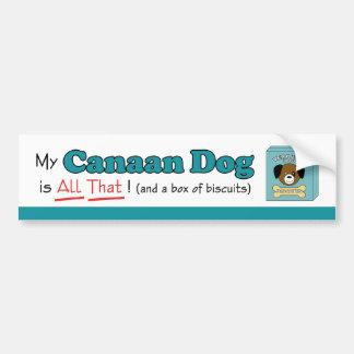 Canaan私の犬はすべてそれです! バンパーステッカー