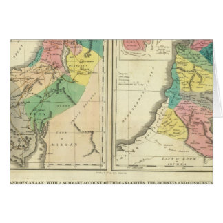 Canaan -イスラエル共和国の地図書の地図 グリーティングカード