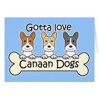 Canaan 3匹の犬 グリーティングカード