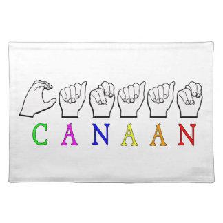 CANAAN FINGERSPELLEDの一流の印 ランチョンマット