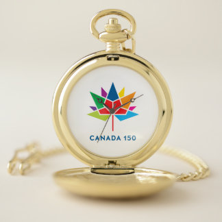 Canada 150 Official Logo - Multicolor ポケットウォッチ