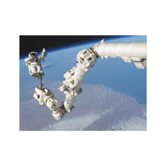 Canadarm2のSTS-114スティーブロビンソン キャンバスプリント