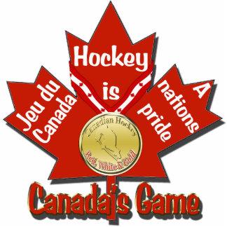 Canadasのゲームのホッケーの木のオーナメント 写真彫刻オーナメント