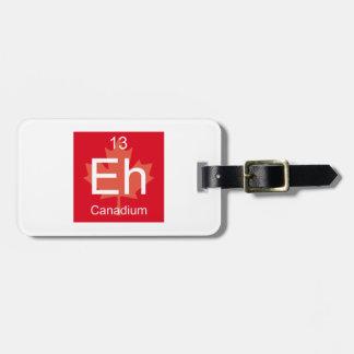 Canadiumの要素 ラゲッジタグ