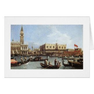 CanalettoのBucentoro.のリターン カード