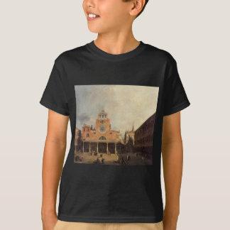 Canaletto著サンジャコモde Rialto Tシャツ