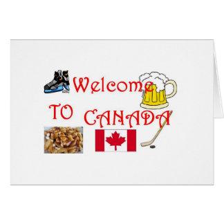 canandaへの歓迎 カード