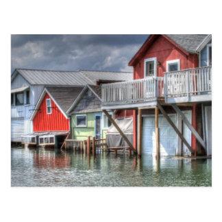 Canandaigua湖のボートハウス ポストカード