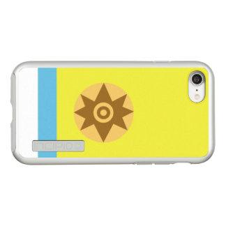 Canarian国家主義の銀のiPhoneの場合の旗 Incipio DualPro Shine iPhone 8/7ケース