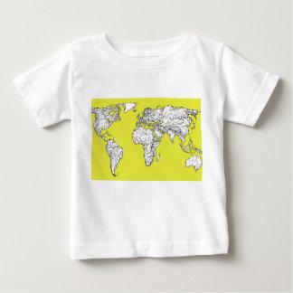 canary yellow地図書の図表 ベビーTシャツ