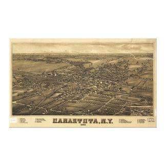 Canastota、ニューヨーク(1885年)の空中写真 キャンバスプリント