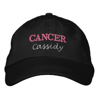 Cancer Zodiac Pink Star女性印 刺繍入りキャップ