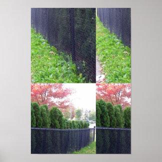 Candianの野生の庭は色の塀の壁のdecoを駐車します ポスター