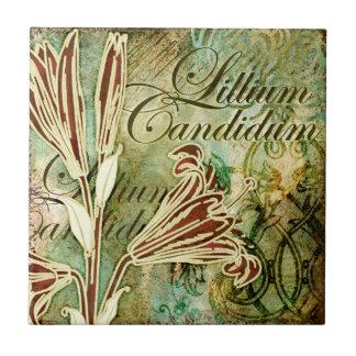 Candidum Lillium タイル