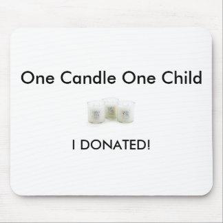 CandlesForKidsGroup [1]、私は寄付しました! 、1本の蝋燭… マウスパッド