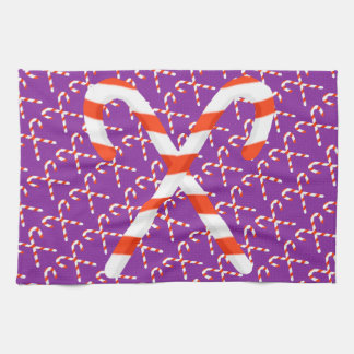 Candy Cane Christmas Kitchen Towel キッチンタオル